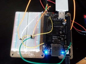 Testing the DS18B20 with the Beaglebone